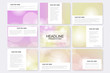 Big set of vector templates for presentation slides. Abstract blurred background.