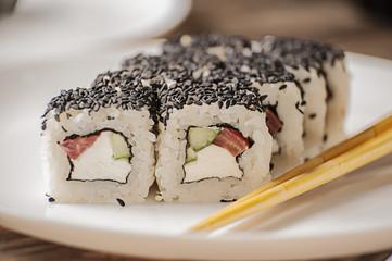 Obraz na Szkle sushi rolls
