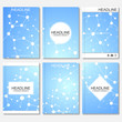 Modern design for brochure, booklet, flyer, cover, annual report. Abstract structure molecule and communication. Business vector templates. Science concept dna or neurons background
