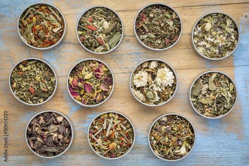 Fotografering  herbal blend tea collection