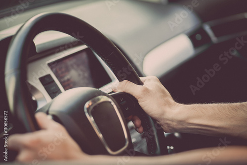 Photo  Hands on steering wheel