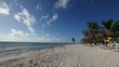 beach resort in time lapse, caribbean sea, Mexico