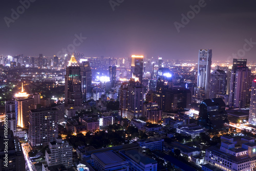 urban city on night view ,cityscape - can use to display or montage