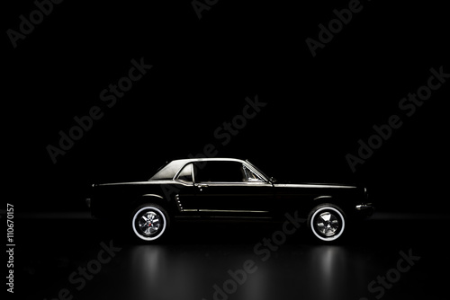 Keuken foto achterwand Vintage cars Black toy car