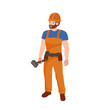 Man worker plumber, profession people uniform, cartoon vector illustration