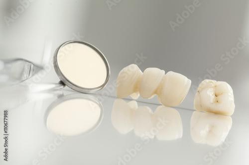 Obraz na plátne Ceramic bridge close up view