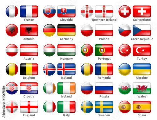 Photo  Icon Flags Set