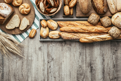 Spoed Foto op Canvas Brood Fresh tasty bread