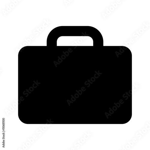 briefcase icon black on white background Canvas Print