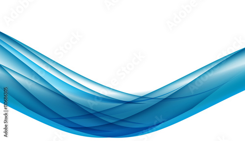 Fototapety, obrazy: Abstract Colored Wave Card Set Background. Vector Illustration