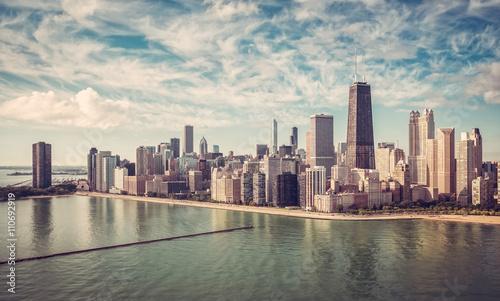 Foto op Aluminium New York Chicago Skyline aerial view