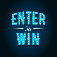 Enter To Win Vector Sign, Win ...