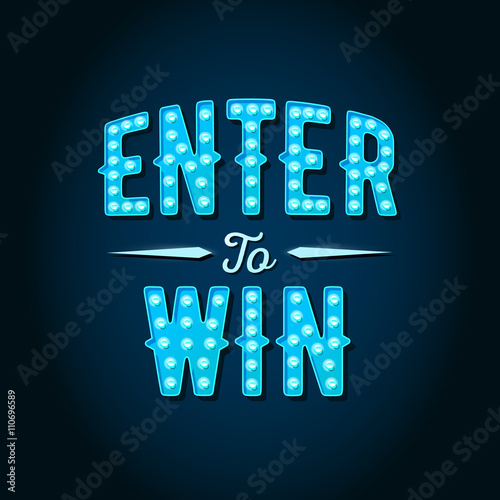 Fotografía Enter to Win Vector Sign, Win Prize, Win in Lottery
