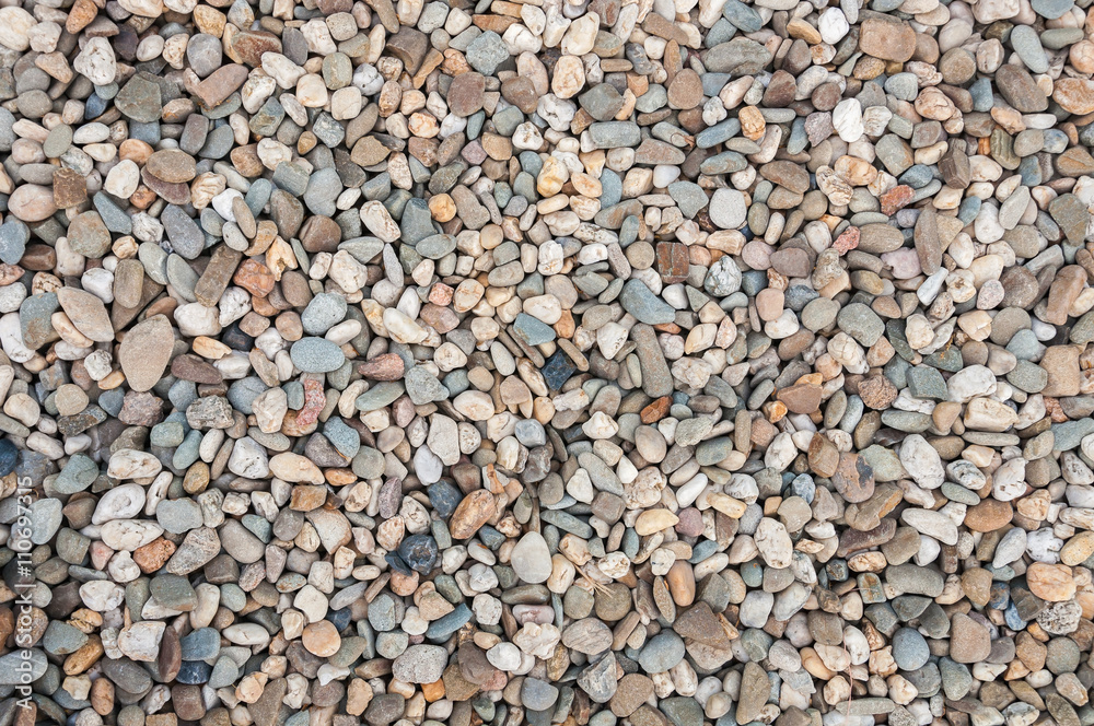 Background made of multicolored pebbles