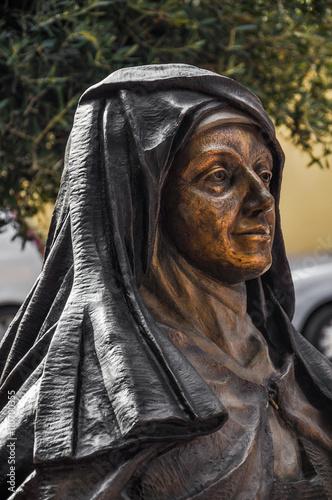 Fotografie, Obraz  Estatua de Santa Teresa de Jesús, Malagón, Ciudad Real, España
