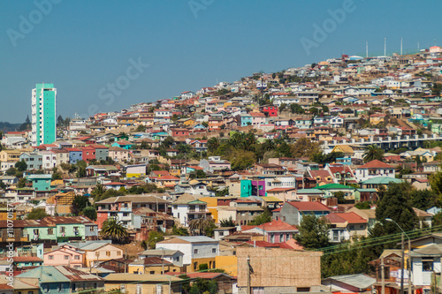Staande foto Havana Colorful houses on hills of Valparaiso, Chile