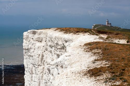 Fotografie, Obraz  White cliffs near the Belle Toute Lighthouse at Beachey Head