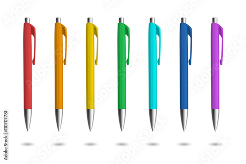 Fotomural Realistic pens for identity design