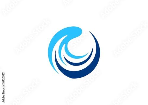 waves logo circle wave sphere symbol blue around water splash icon rh stock adobe com wave logo brand wave logo images