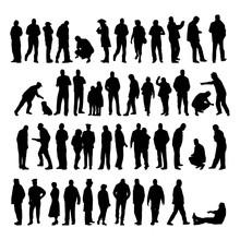 Vektor Set Menschen Silhouetten
