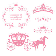 Vintage Royalty Frame With Crown