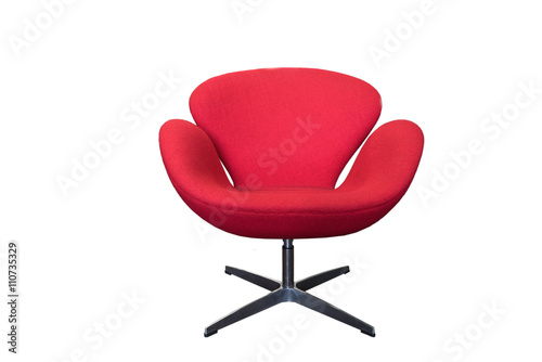 Poster Cygne red swan chair isolated
