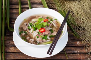 FototapetaTraditional Vietnamese beef soup pho