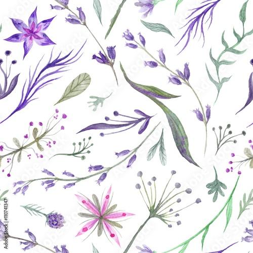 akwarela-ziolowy-wzor-z-lawendy-w-kolorze-fioletowym