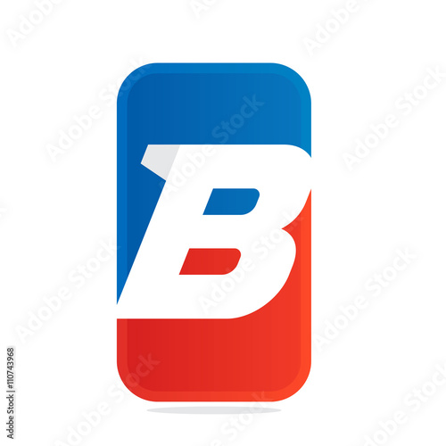 B letter for fitness, sport team or gym. Poster