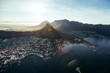 canvas print picture Aerial view of cape town city with devil's peak