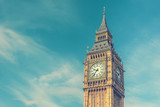 Fototapeta Big Ben - Big Ben, London, UK, vintage effect style