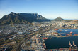 canvas print picture Cape Town Harbour and Table Mountain, South Africa