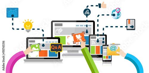 Photo  Content Marketing Advertising Analytics Concept