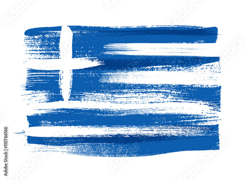 Fotografía Greece colorful brush strokes painted flag.