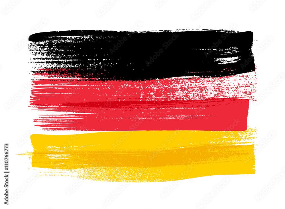 Fototapeta Germany colorful brush strokes painted flag.