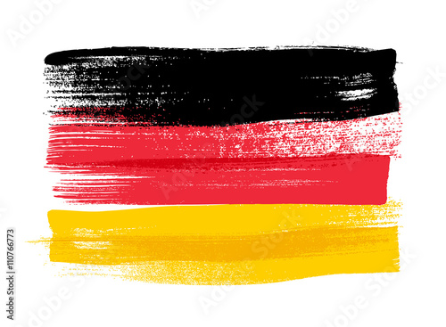 Fotografía  Germany colorful brush strokes painted flag.