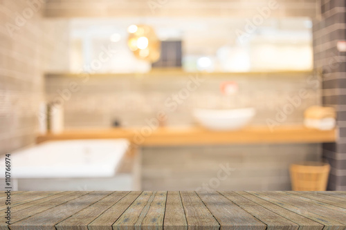 Fotografia, Obraz  Abstract blur bathroom interior for background