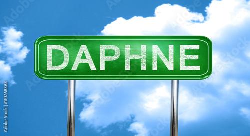 Fotografia daphne vintage green road sign with highlights