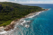 Seychelles, Vue aérienne, île de la Digue