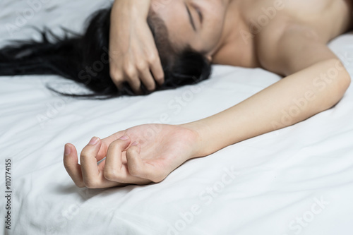 Plakat Po seksie lub orgazmie w sypialni