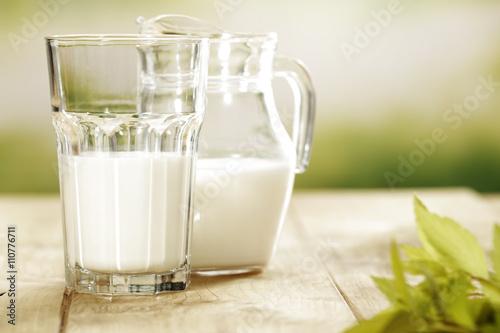 Zdjęcie XXL mleko i zielona przestrzeń