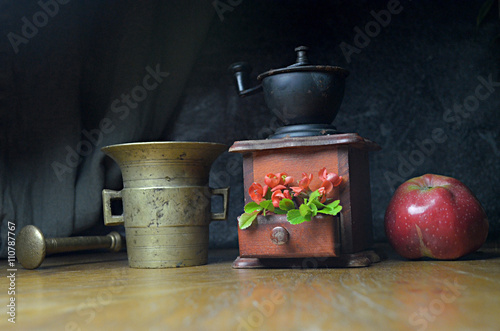 Fotografie, Tablou  still life composition with flowers