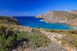 Sea view in Cala Domestica, Sardinia, Italy.