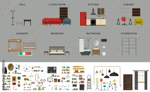 Fotografía  Furniture interior elements