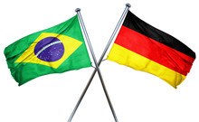 Brasil Flag  Combined With Germany Flag