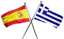 Spanish Flag  Combined With Greek Flag