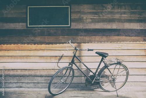 Deurstickers Fiets Bike vintage Park wall