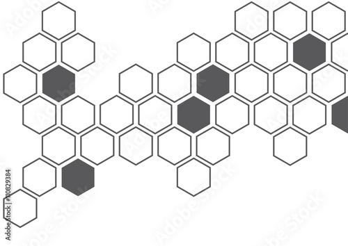 Obraz dark grey hexagon white background wall pattern - fototapety do salonu