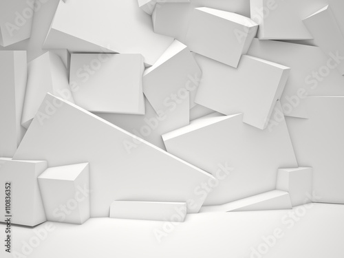 fototapeta na drzwi i meble white cubes background