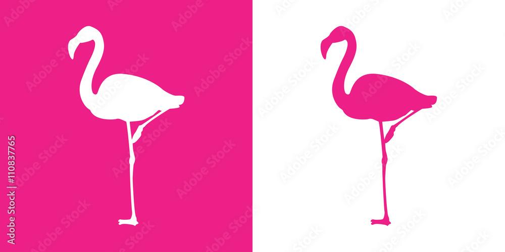 Płaskie ikona Flamingo z różowym kolorze <span>plik: #110837765 | autor: teracreonte</span>